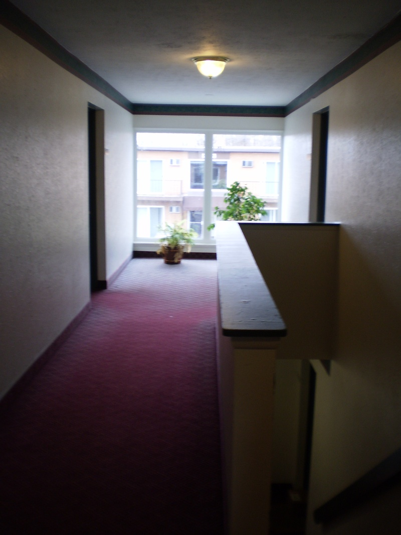 public hallway in the apartment building